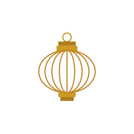 chinese decorative lamp hanging icon vector illustration design Illusztráció