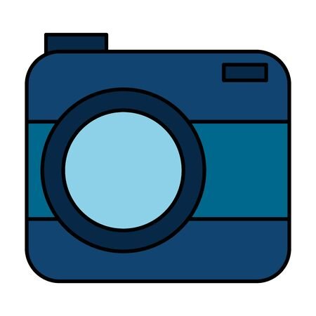 camera photographic technology device icon vector illustration design
