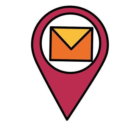 navigation pointer mail communication vector illustration design Illustration
