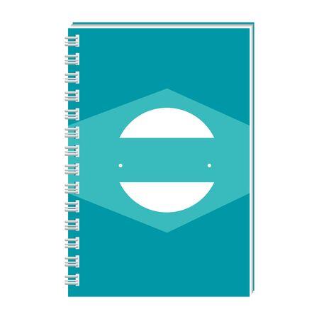 notepad with company emblem print vector illustration design Illustration