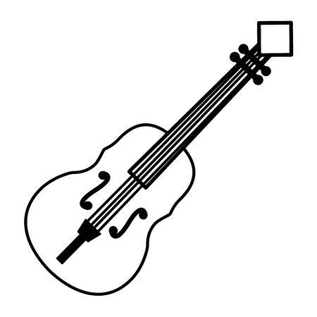 fiddle instrument music festival on white background vector illustration Illustration