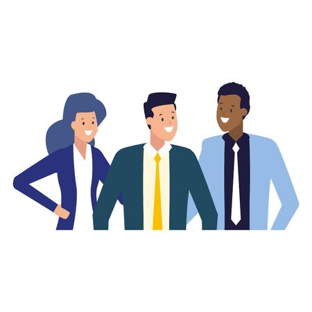 businessmen and woman group team work vector illustration Иллюстрация