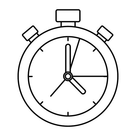 timer chronometer device isolated icon vector illustration design Stock Illustratie