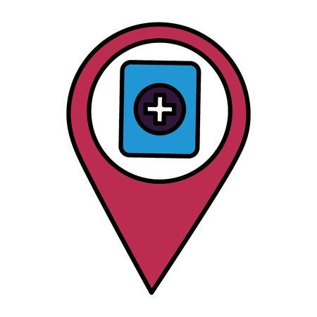 navigation pointer battery on white background vector illustration Stock Vector - 129529231