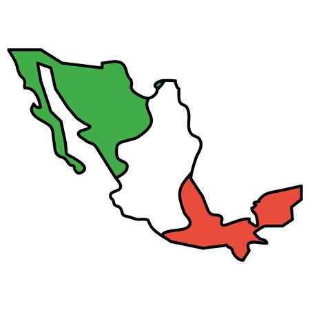 mexico map geography isolated icon vector illustration design Foto de archivo - 129529228