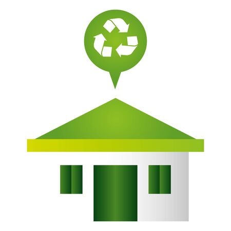 home recycle eco friendly environment vector illustration  イラスト・ベクター素材