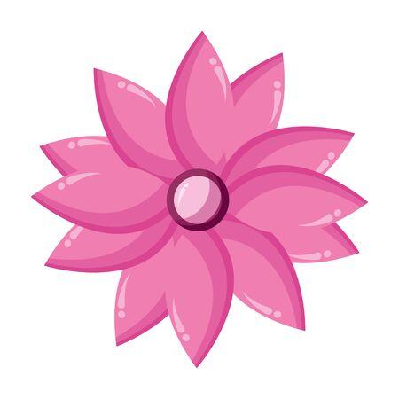 flower petals decoration on white background vector illustration Vector Illustration