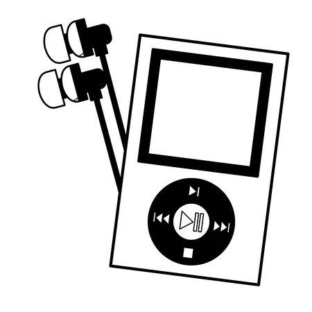mp3 earphones music festival background vector illustration