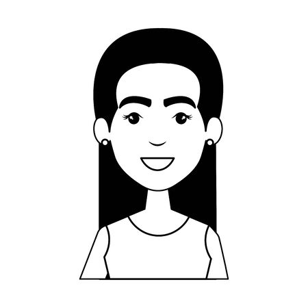 young woman with urban style character vector illustration design