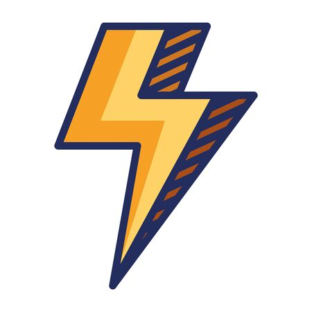 power thunder electric ray icon vector illustration design