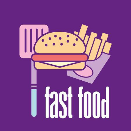 Fast food and hamburger design, restaurant menu dinner lunch cooking meal and tasty theme Vector illustration