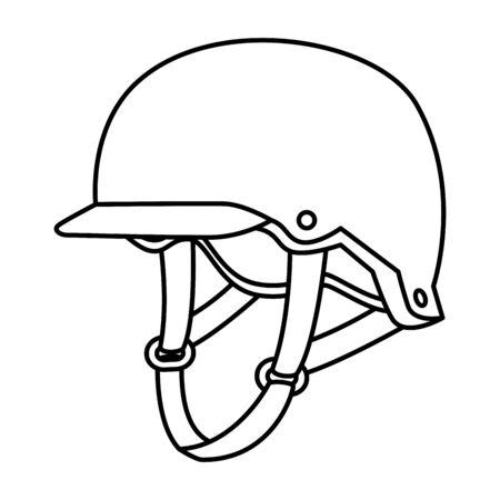 L'équipement de skaster casque icône isolé conception d'illustration vectorielle