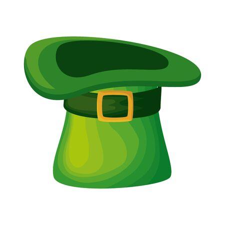 saint patrick card with hat leprechaun vector illustration design