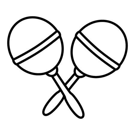 baby rattles toy on white background vector illustration Vektorové ilustrace