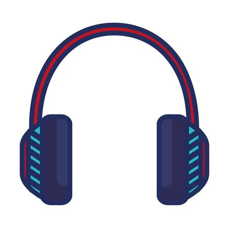 audio headset device isolated icon vector illustration design