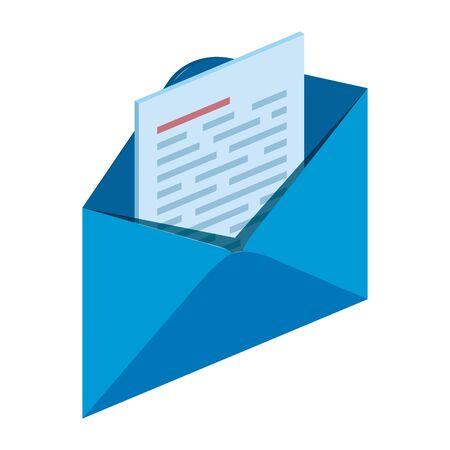Courrier enveloppe envoyer icône isolé illustration vectorielle conception Vecteurs