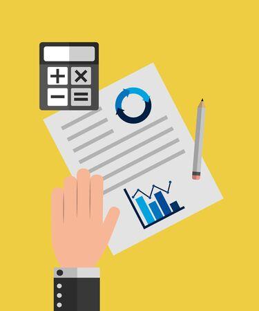 Statistiekenontwerp, Infographic-gegevensinformatie bedrijfsanalyses en visueel presentatiethema Vectorillustratie