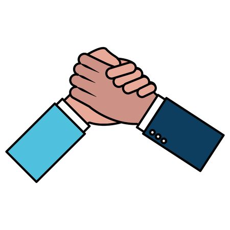 hands business persons done deal vector illustration design Иллюстрация
