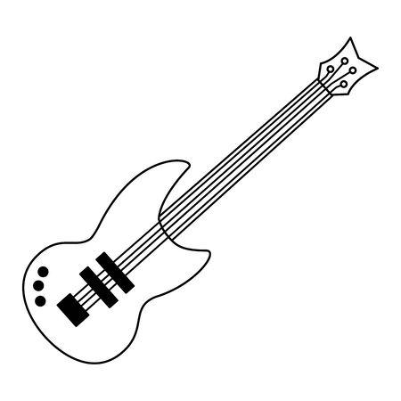 eletric guitar music instrument on white background vector illustration Illustration