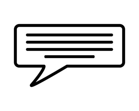 message speech bubble on white background vector illustration