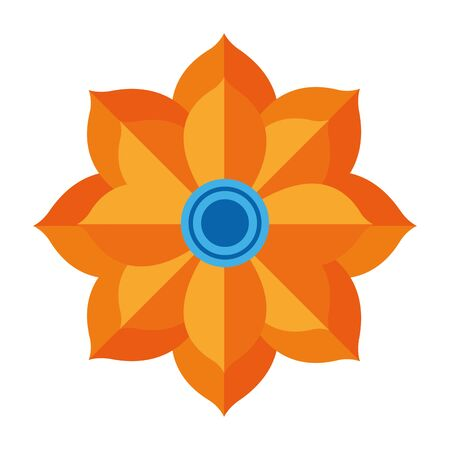 indian lotus flower nature icon vector illustration design 向量圖像