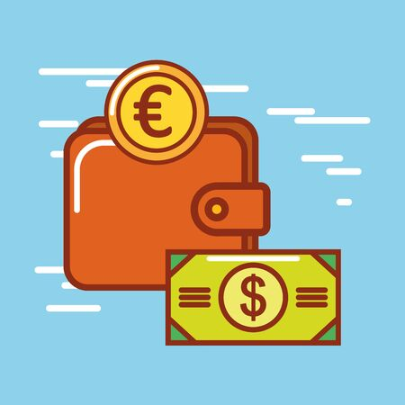 Money icon design, Financial item commerce market payment invest buy and economy theme Vector illustration