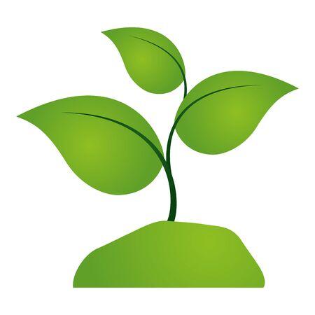plant eco friendly on white background vector illustration