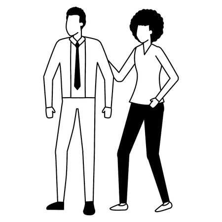 business man and woman characters vector illustration Illustration
