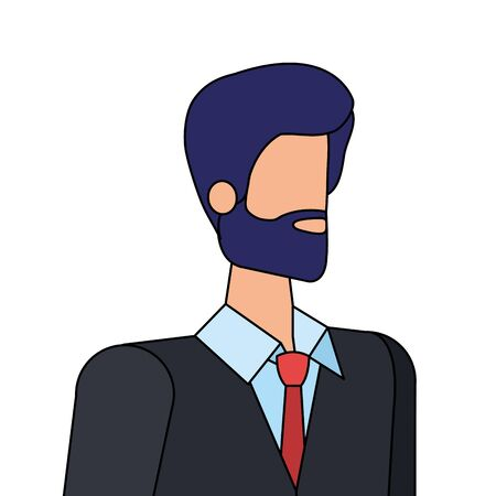 elegant businessman worker avatar character vector illustration design Stock fotó - 129570651