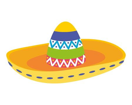mexican hat traditional isolated icon vector illustration design Çizim