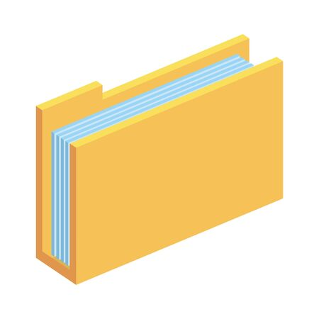 folder documents files storage vector illustration design Stock Illustratie