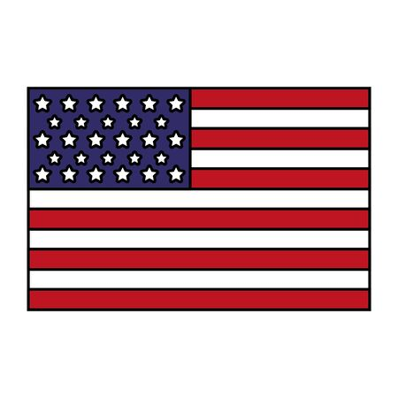 american flag on white background independence day vector illustration  イラスト・ベクター素材