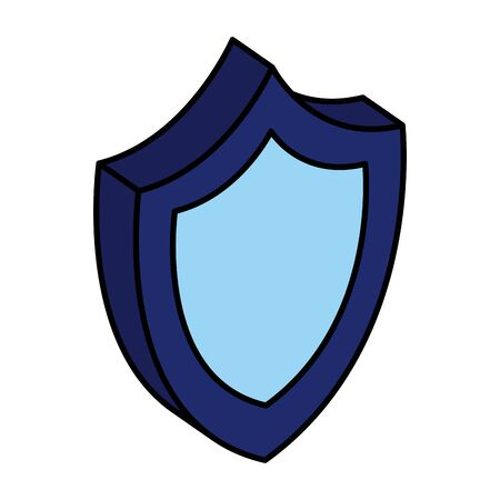 shield security guard isolated icon vector illustration design