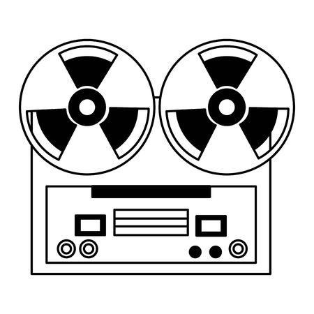 reel tape recorder festival music poster vector illustration 向量圖像