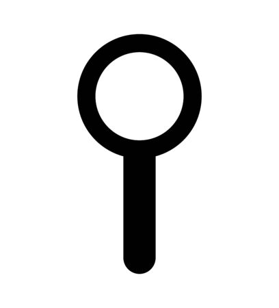 search magnifying glass isolated icon vector illustration design Banco de Imagens - 129735137