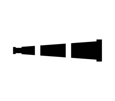 Dispositivo de telescopio icono aislado diseño de ilustración vectorial