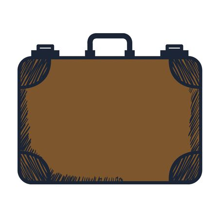 suitcase travel equipment isolated icon vector illustration design