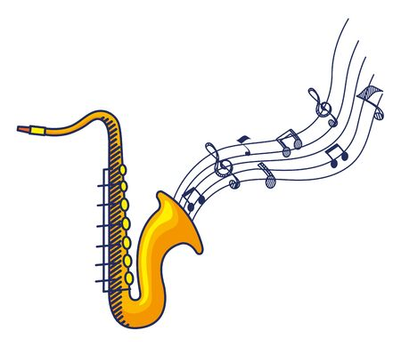 saxophone instrument musical isolated icon vector illustration design