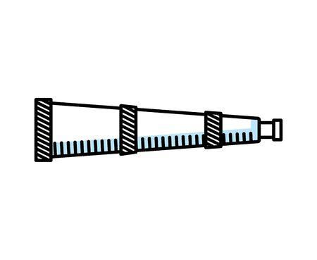 Teleskopvorrichtung isolierte Symbolvektorillustrationsentwurf Vektorgrafik
