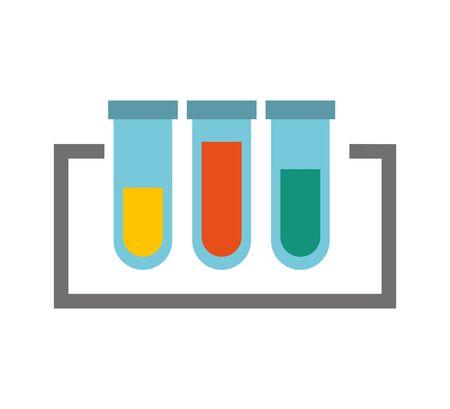 Test de tube icône isolé vector illustration design