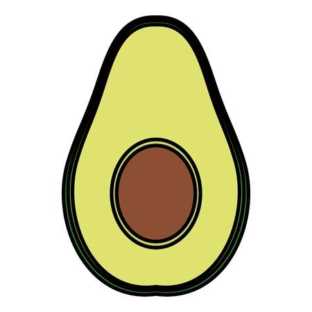 avocado fresh vegetable healthy icon vector illustration design