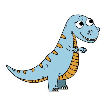 cute tyrannosaurus rex comic character vector illustration design Stock fotó - 129737671