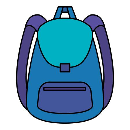 school bag supply isolated icon vector illustration design