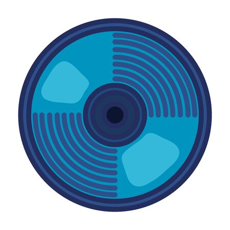 compact disk audio device icon vector illustration design 向量圖像