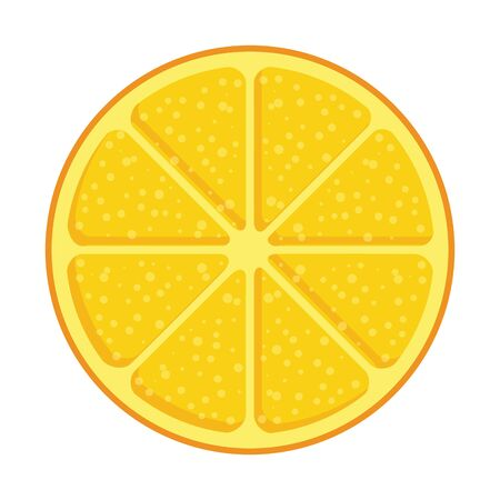 orange half citrus fruit summer icon vector illustration design