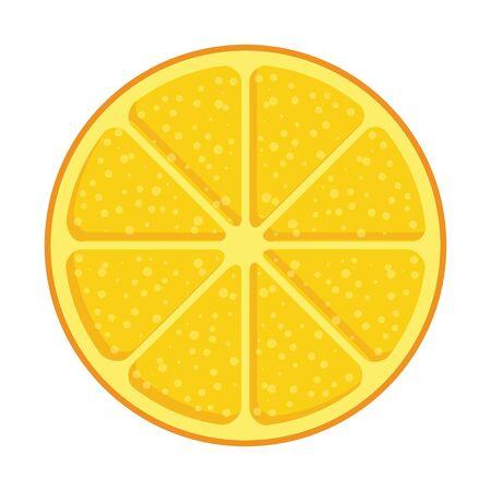 orange half citrus fruit summer icon vector illustration design