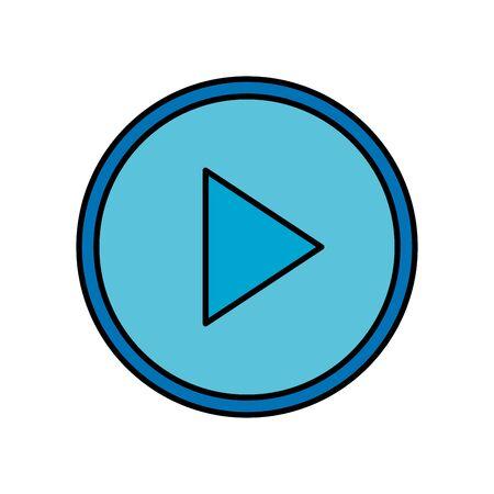 Botón de reproducción de interfaz de diseño de ilustración de vector de icono aislado