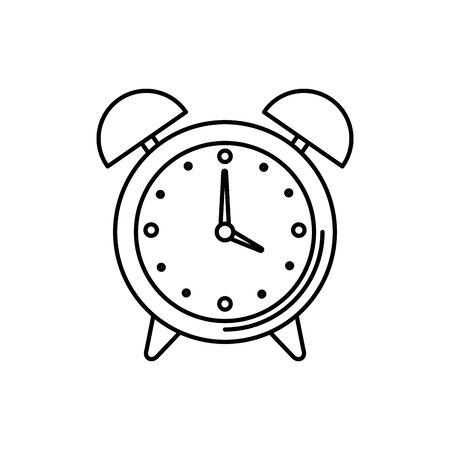 alarm clock watch isolated icon vector illustration design