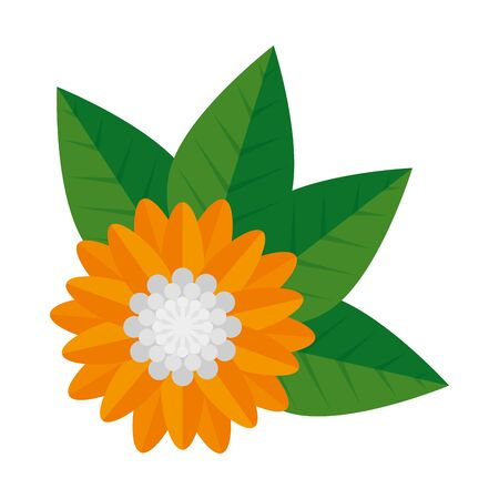 flower hindu decorative isolated icon vector illustration design