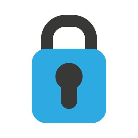 padlock secure isolated icon vector illustration design